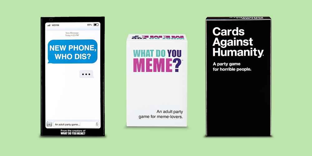 New Phone Who Dis? Game by What Do You Meme?, What Do You Meme? Adult Party Card Game, Cards Against Humanity Game