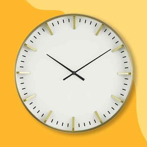 """Raised Marker 16"""" Wall Clock White/Brass - Project 62™"""