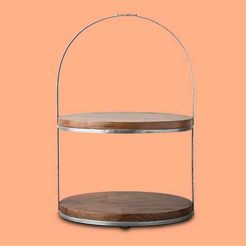 2-Tier Wood & Metal Cake Stand - Hearth & Hand™ with Magnolia