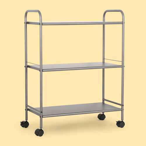 3 Shelf Wide Utility Storage Cart Gray - Room Essentials™