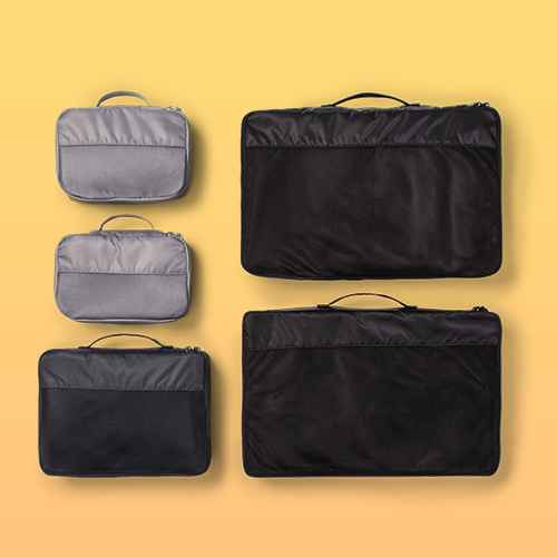 5pc Packing Cube Set Black - Made By Design™