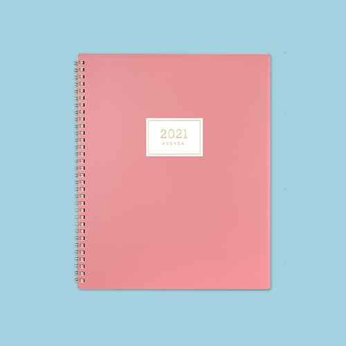 """2021 Planner 8.5"""" x 11"""" Weekly/Monthly Wirebound Dusty Rose - cupcakes and cashmere for Blue Sky"""