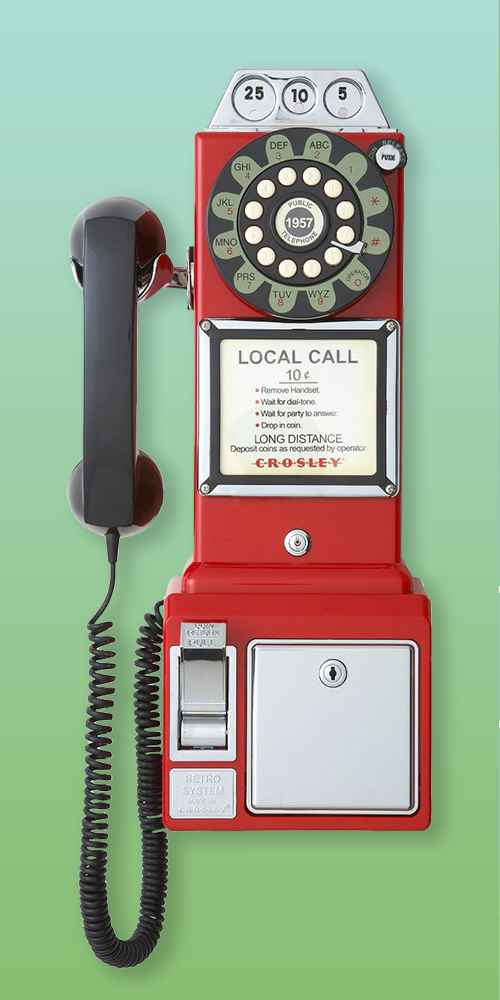 Crosley 1950's Pay Phone - Red (CR56-RE)
