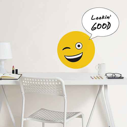 Wall Pops!  Dry Erase Board Decal - Build Your Own Emoji