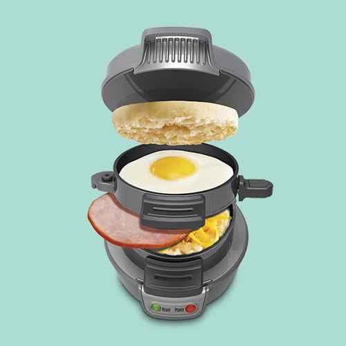 Hamilton Beach Breakfast Sandwich Maker with Timer - Dark Gray 25478