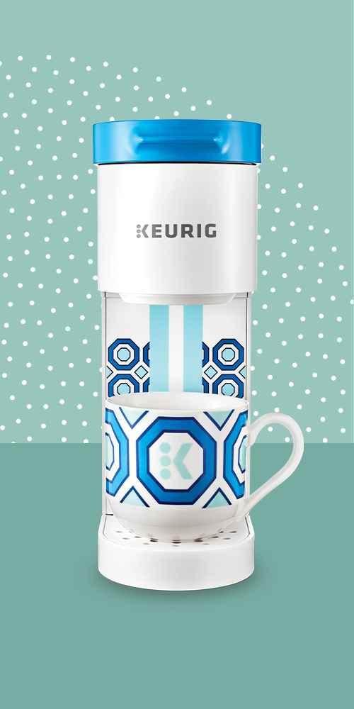 Keurig K-Mini Basic Jonathan Adler Limited Edition Single-Serve K-Cup Pod Coffee Maker - White