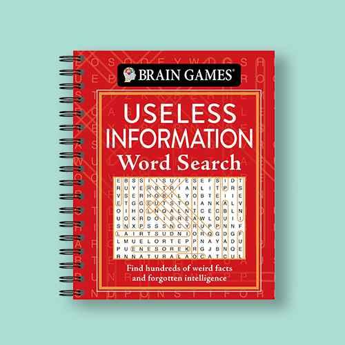 Brain Games - Useless Information Word Search - (Spiral Bound)