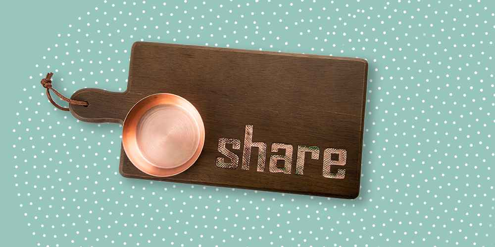 """15"""" x 7"""" Wood with Copper inlay Serving Tray Brown - Thirstystone"""