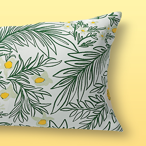 Spring Floral Lumbar Outdoor Throw Pillow Green - Opalhouse™