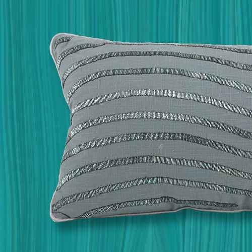 Down Filled Wavy Pillow Design Sea Green - Saro Lifestyle