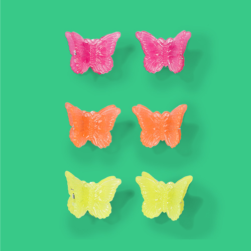 Jelly Finish Plastic Butterfly Shape Hair Claw Clips - Wild Fable™