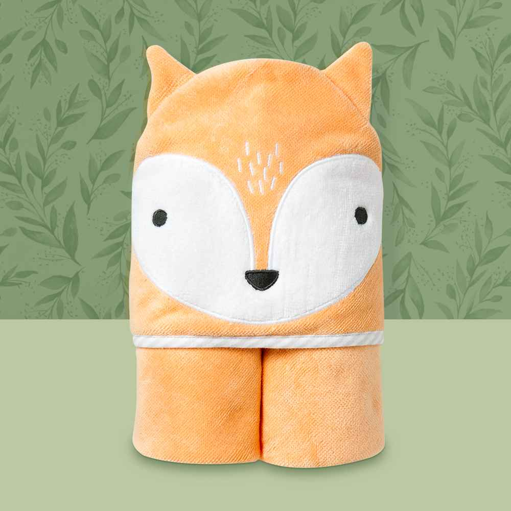 Baby Fox Hooded Towel - Cloud Island™ Orange