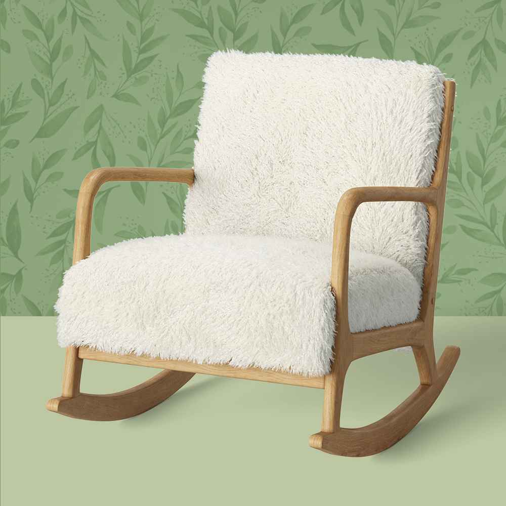 Esters Wood Arm Chair Sherpa White - Project 62™