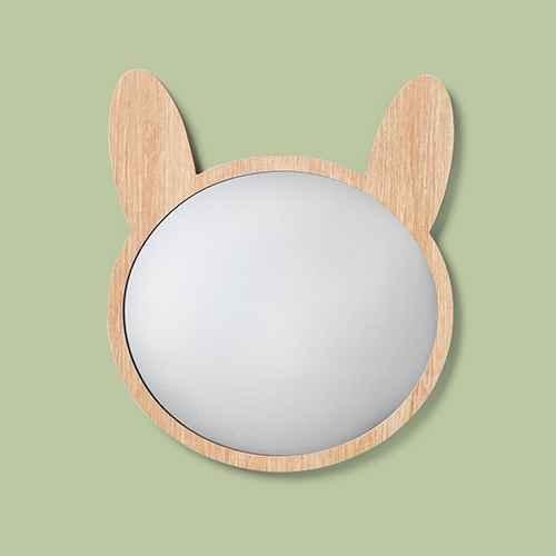 """Bunny Mirror (13""""x11""""x0.38"""") - Pillowfort™"""
