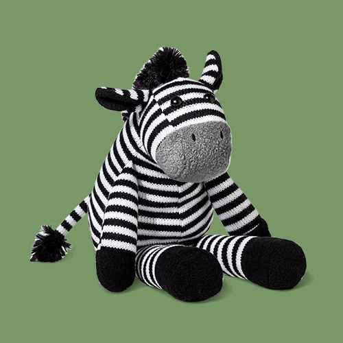 Plush Zebra - Cloud Island™ Black/White