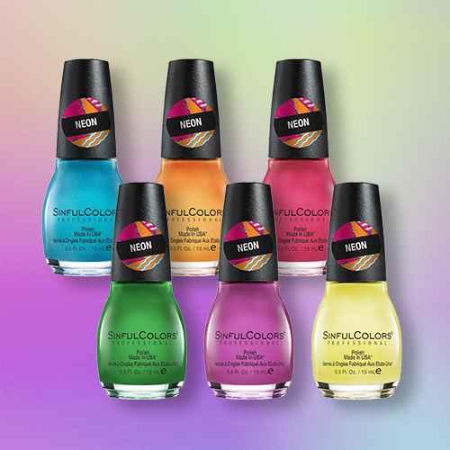 SinfulColors Neon Nail Polish Collection - 6pk