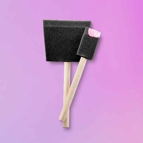8pc Foam Paint Brush Variety Pack - Hand Made Modern®