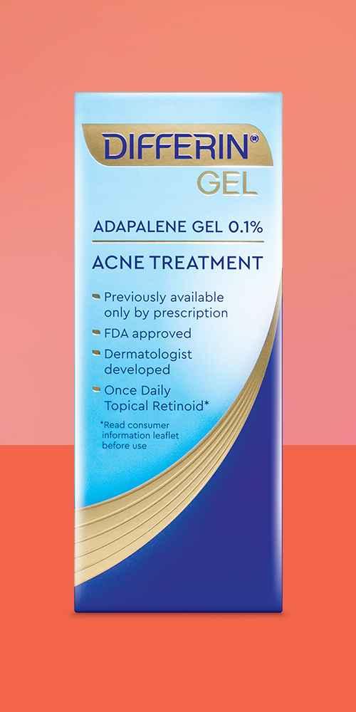 Differin Adapalene Gel 0.1% Acne Treatment - 45g
