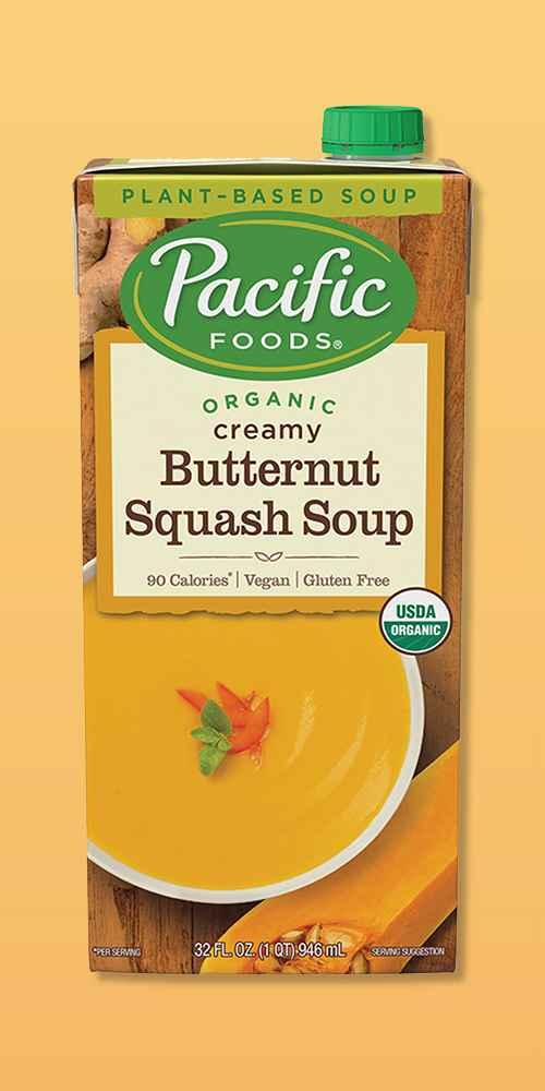 Pacific Foods Organic Gluten Free Vegan Creamy Butternut Squash Soup - 32oz, Pacific Foods Organic Gluten Free Vegan Tomato Basil Soup - 32oz