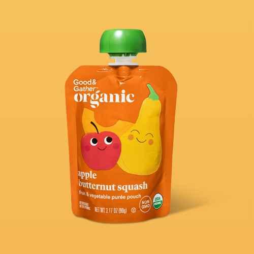 Organic Applesauce Pouches - Apple Butternut Squash - 4ct - Good & Gather™
