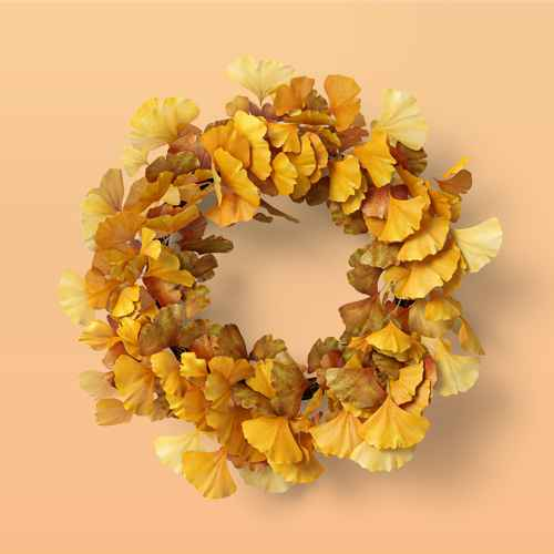 """24"""" Artificial Gingkho Wreath - Threshold™, 24"""" Faux Rusted Eucalyptus Plant Wreath - Hearth & Hand™ with Magnolia"""