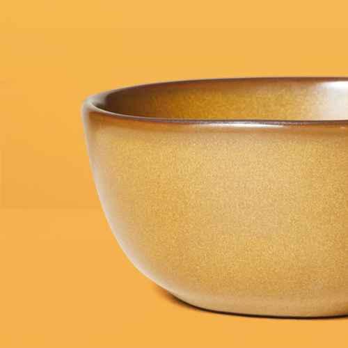 Stoneware Exposed Rim Mini Bowl Gold - Hearth & Hand™ with Magnolia