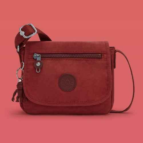 Kipling Sabian Crossbody Mini Bag Dusty Carmine