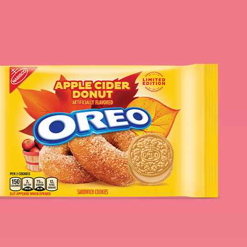 Oreo Limited Edition Apple Cider Donut Sandwich Cookies Family Size - 12oz, Glazed Apple Fritters - 11oz - Favorite Day™
