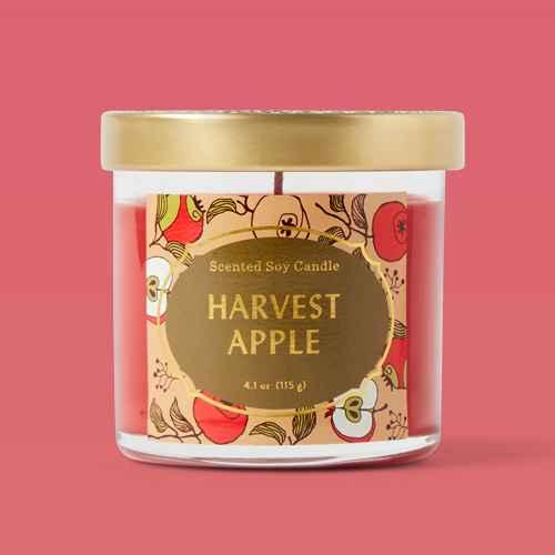 4.1oz Lidded Glass Jar Harvest Apple Candle - Opalhouse™