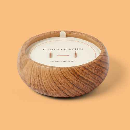 15oz Wood Cement with Wooden Wick Pumpkin Spice Candle - Threshold™, Glade Pumpkin Spice Latte Candle - 6.8oz, Glade Pumpkin Spice Things Up Candle - 6.8oz