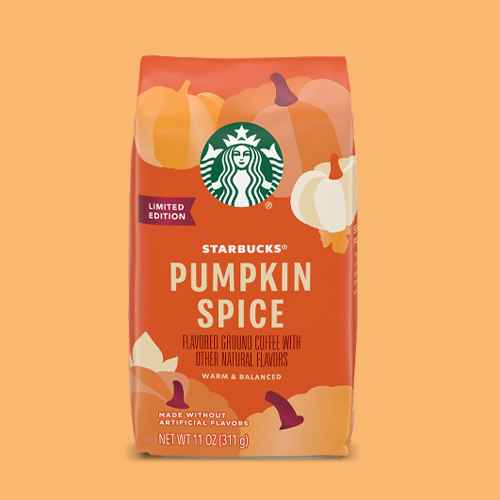 Starbucks Pumpkin Spice Light Roast Ground Coffee  - 11oz, Starbucks Pumpkin Spice Medium Roast Coffee - Keruig K-Cup Pods - 22ct, Starbucks VIA Pumpkin Spice Latte Medium Roast Instant Coffee Packets  - 5.7oz/5ct