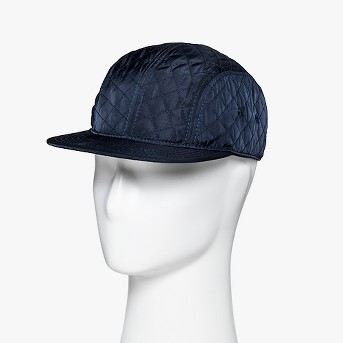 Men's Quilted Flat Bill Baseball Cap - Goodfellow & Co™ Navy One Size