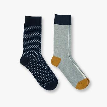 Men's Dress Socks 2pk - Goodfellow & Co™ Navy Dash 10-13