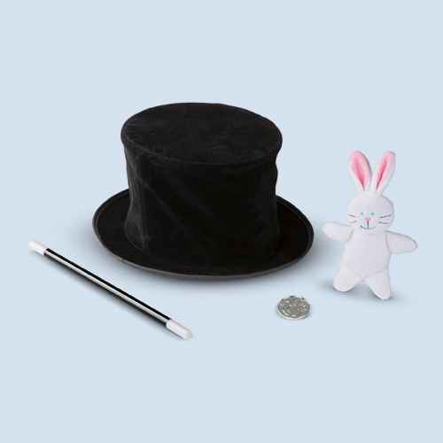 Melissa & Doug Magic in a Snap - Magician's Pop-Up Magical Hat with Tricks