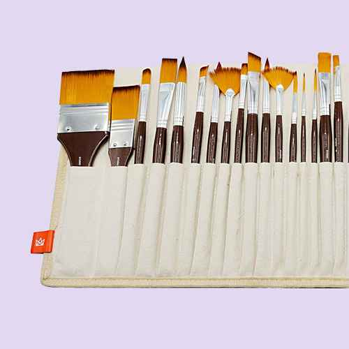 Kingart 24ct Brush Library In Canvas Wrap