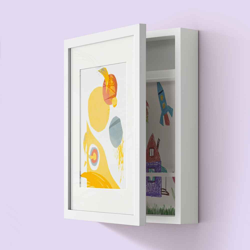 "8.5"" x 11"" Horizontal Kids Art Storage White - Threshold™"