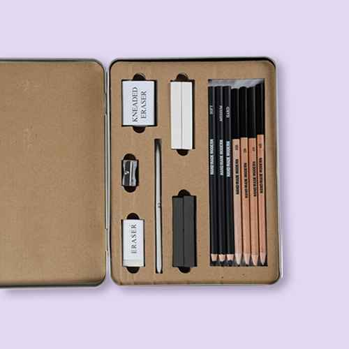 15pc Charcoal Drawing Set - Hand Made Modern®