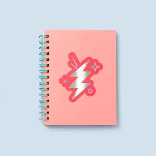 "6"" x 8"" Lightning Spiral Journal - More Than Magic™"