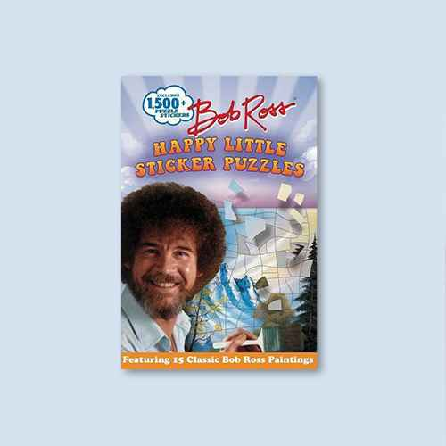 Bob Ross Happy Little Sticker Puzzles - (Sticker Art Puzzles) by  Gina Gold (Paperback)
