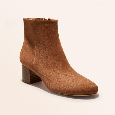Women's Kina Microsuede Heeled Ankle Bootie - A New Day™