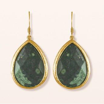 Zirconite® Long Elongated Pear Shape Drop Earring