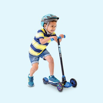 Yvolution Y Glider Deluxe Three Wheel Scooter for Kids