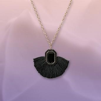 SUAGRFIX by BaubeBar Statement Pendant Necklace with Tassels