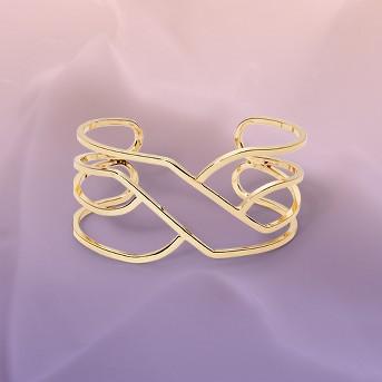 Open Wavy Cuff Bracelet - A New Day™ Gold