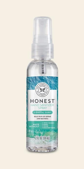 Honest Company Hand Sanitizer Spray Coastal Surf - 2 fl oz