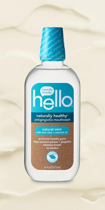 hello Naturally Healthy Antigingivitis Mouthwash , Alcohol Free and Vegan , 473ml