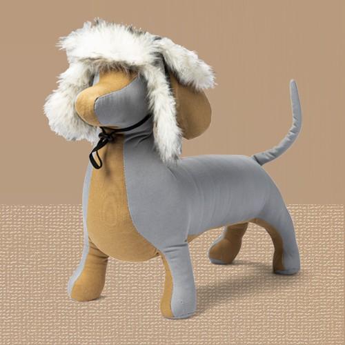 Tipped Faux Fur Trim Stocking Dog Hat - L/XL - Boots & Barkley™