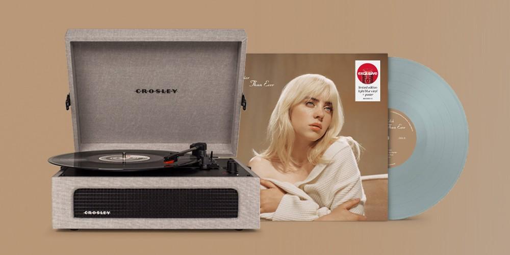 Crosley Voyager Turntable - Gray, Billie Eilish - Happier Than Ever (Target Exclusive, Vinyl)