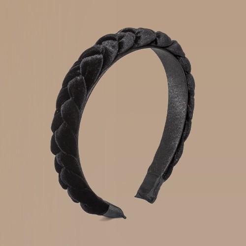 Girls' Velvet Braided Headband - art class™ Black