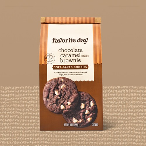Soft Baked Chocolate Caramel Flavored Brownie Cookie - 8oz - Favorite Day™, Salted Caramel Chocolate Chip Cookie Thin - 7oz - Favorite Day™, Pumpkin Cheesecake Cookies - 10.6oz - Favorite Day™, Cinnamon Churro Cookie Bite - 7oz - Favorite Day™